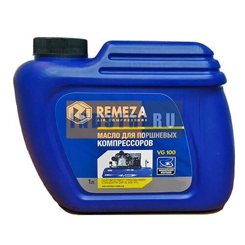 Минеральное масло для поршневых компрессоров Remeza VG 100 8101240 - 1 литр
