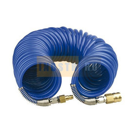 Шланг спиральный PGS ПРОФИ (Быстросъем) 8x12 мм (20 бар) - 10 м
